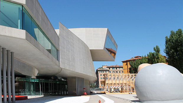 Entrance of MAXXI in Rome